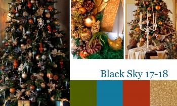 Новогодняя фотосессия в фотостудии Liberty Black Sky